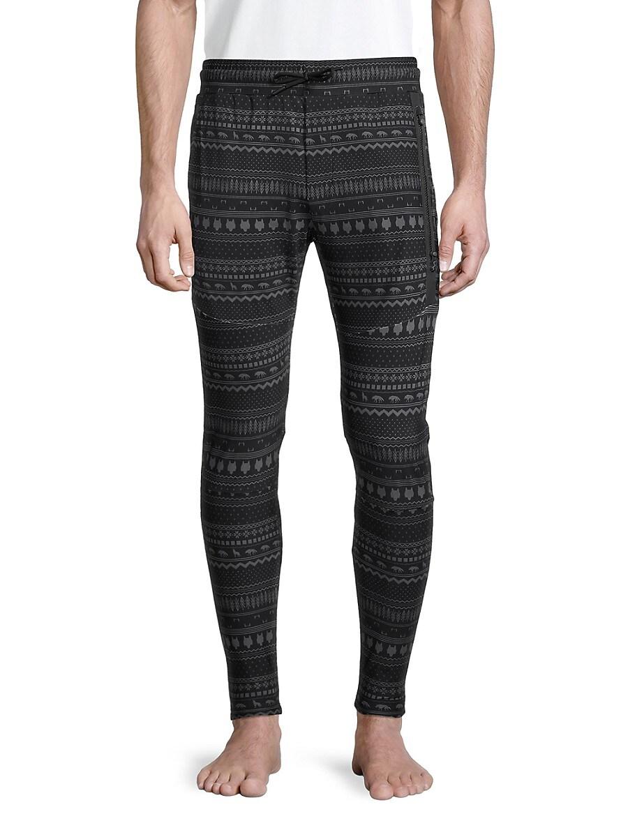Men's Printed Drawstring Jogger Pants