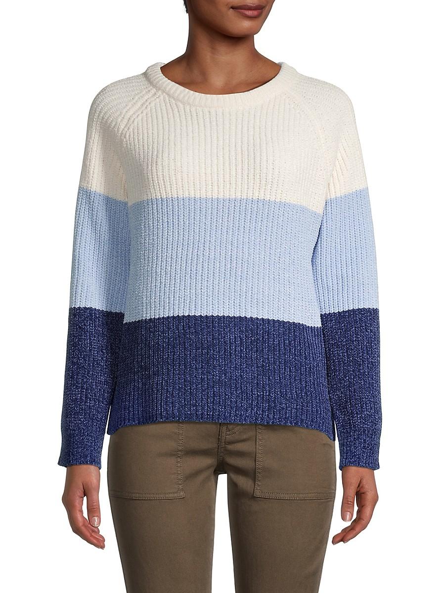Women's Colorblock Raglan Knitted Sweater