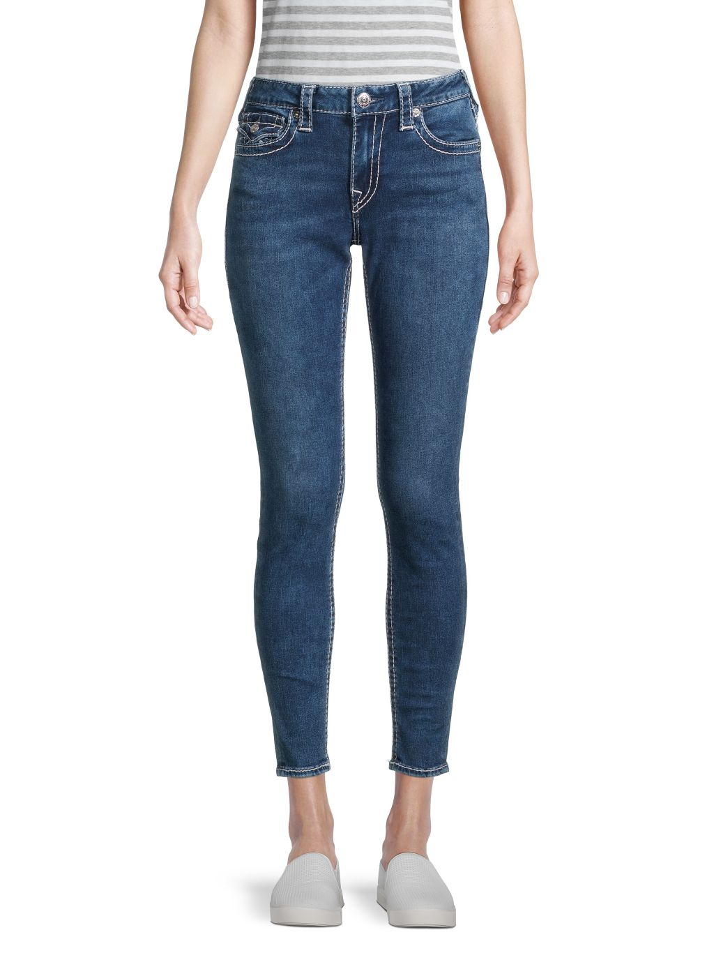 True Religion Jennie Big T Skinny Ankle Jeans