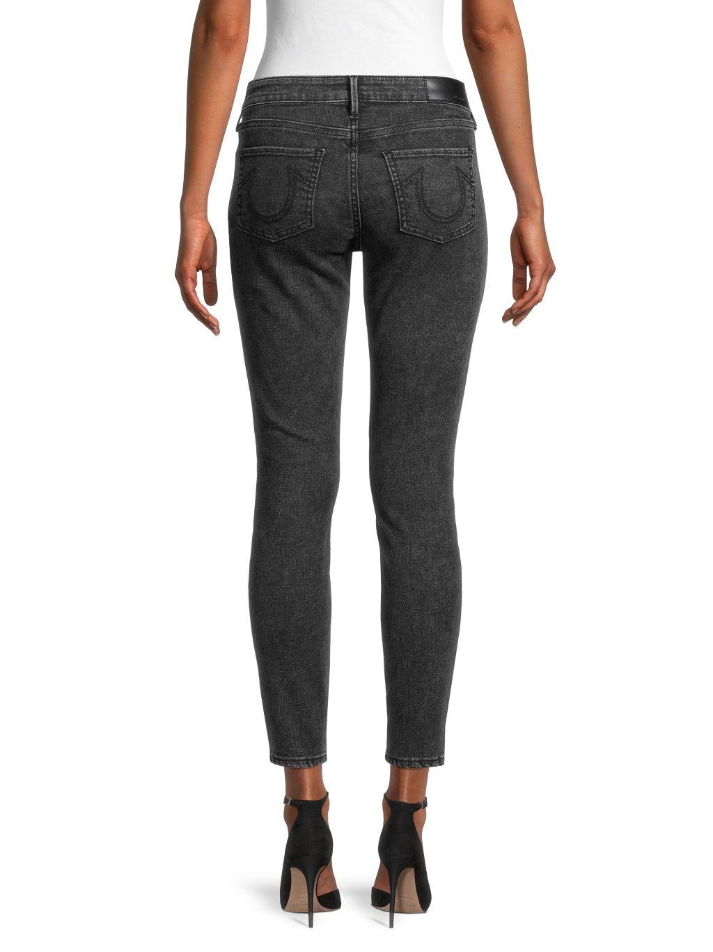 True Religion Hallie Mid-Rise Super-Skinny Ankle Jeans