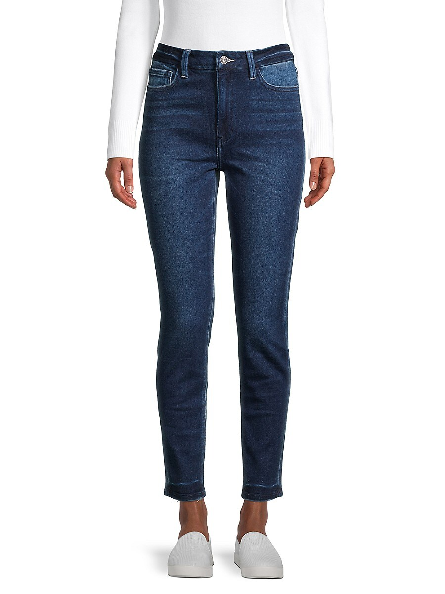 Women's High-Rise Seamless Waistband Ankle Skinny Jeans