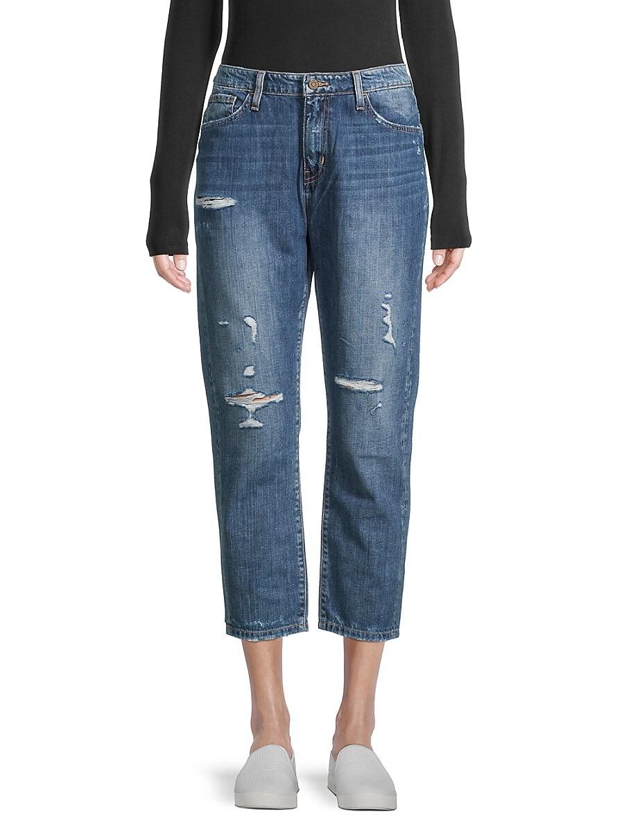 Women's Distressed Boyfriend Jeans