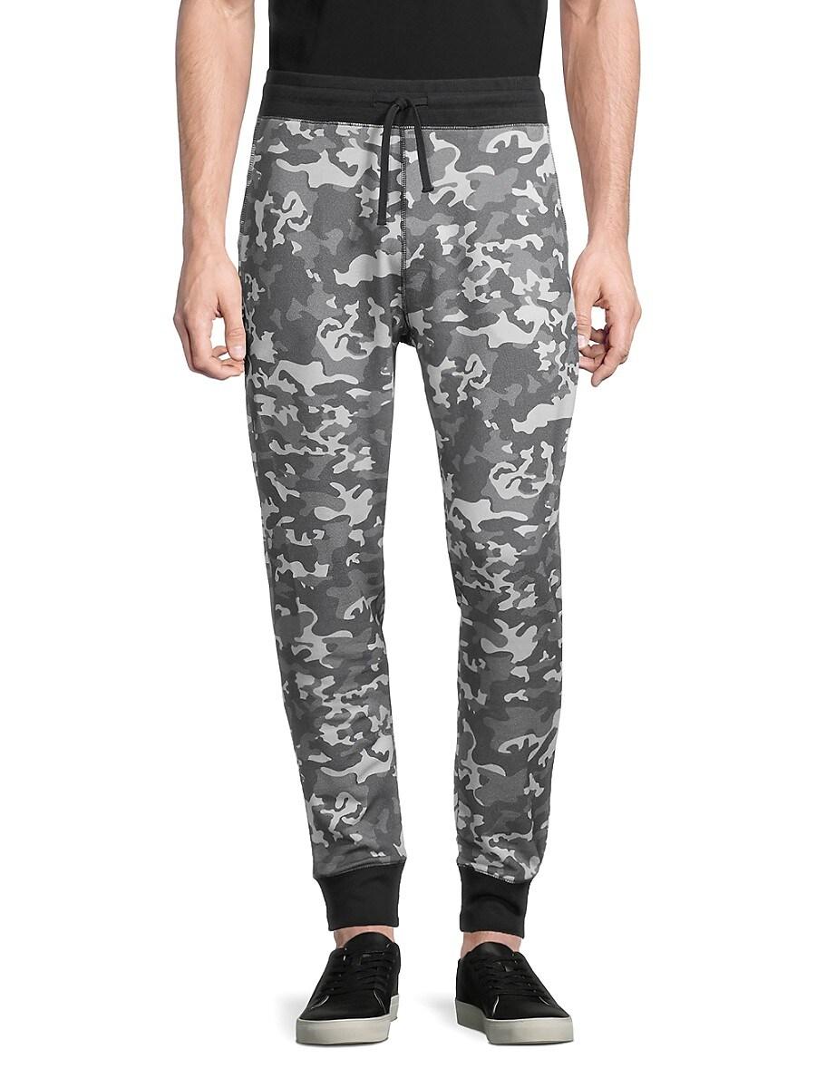 Men's Camo-Print Pima Cotton-Blend Jogger Pants