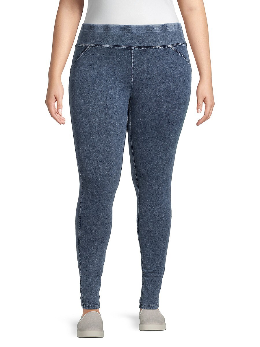 Women's Plus Marbled Wash Jeggings