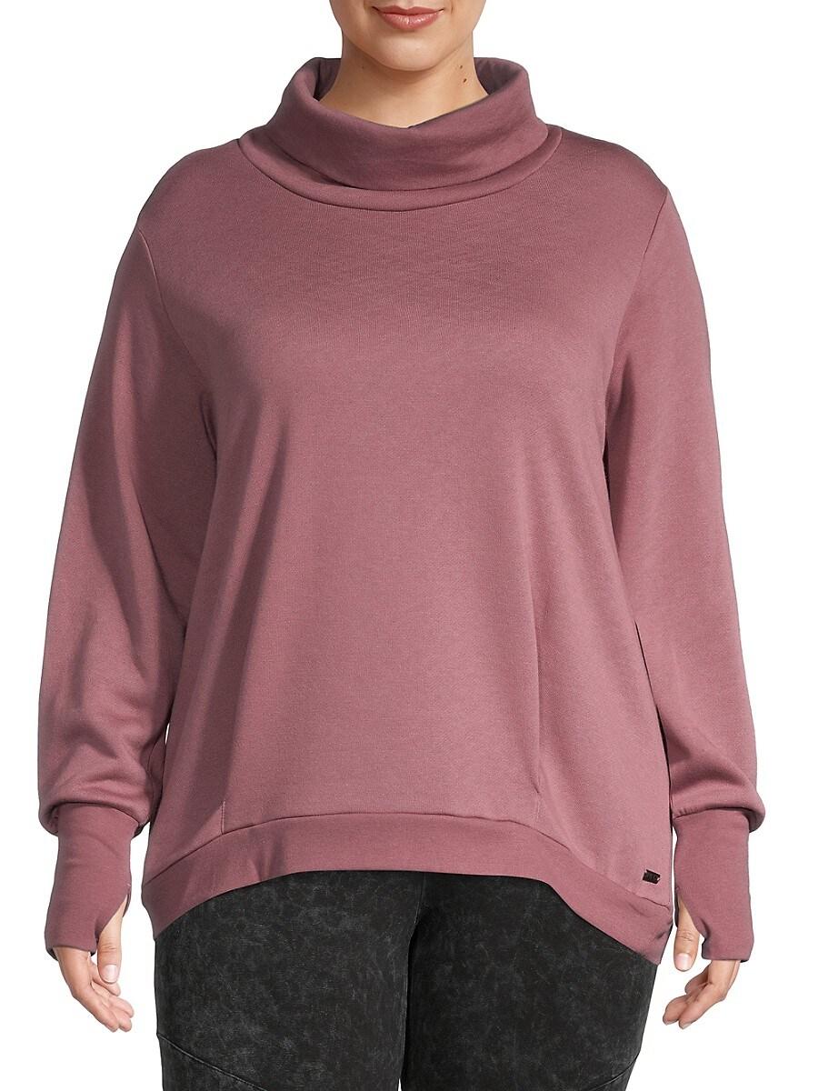 Women's Plus Funnelneck Sweatshirt
