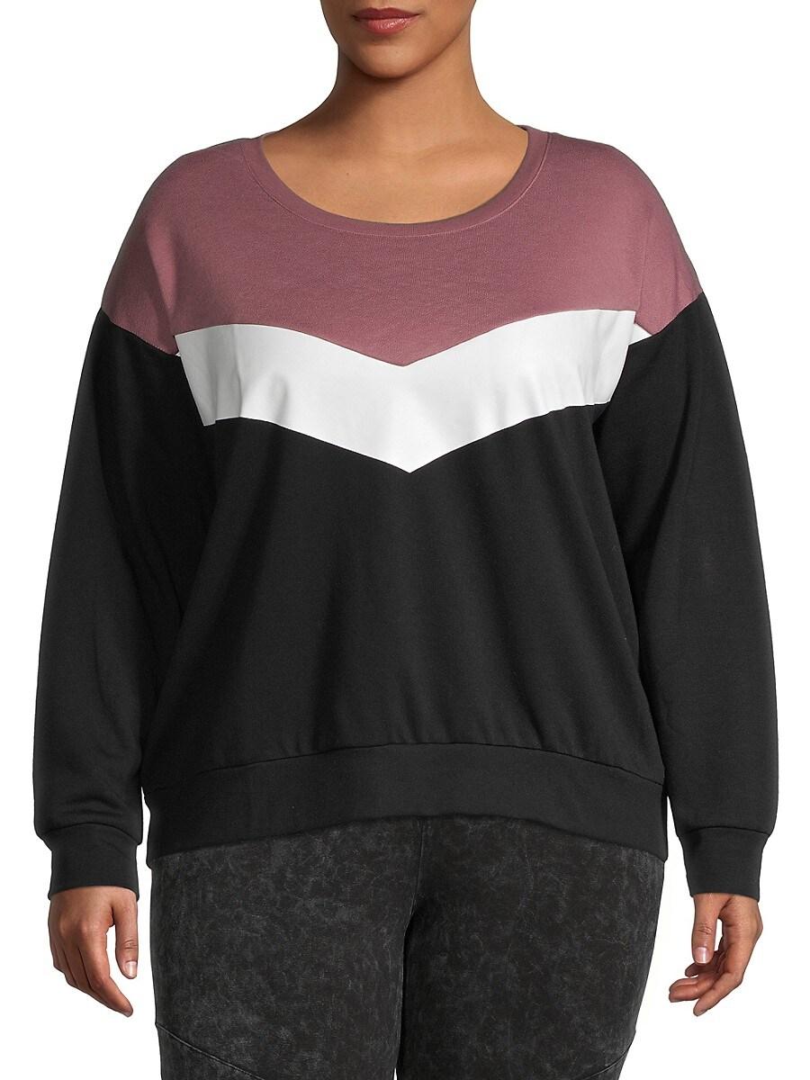 Women's Plus Colorblock Sweatshirt