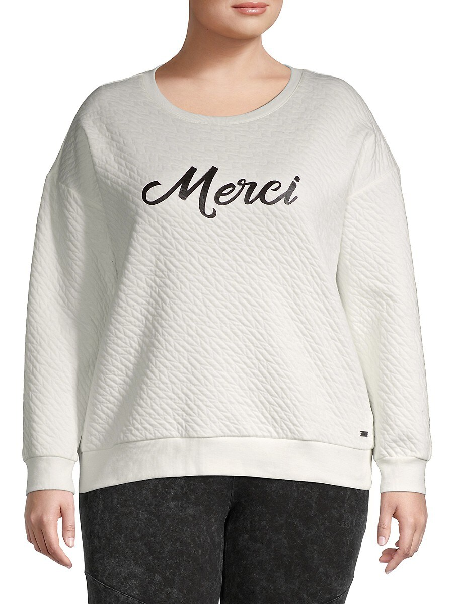 Women's Quilted Merci Graphic Sweatshirt