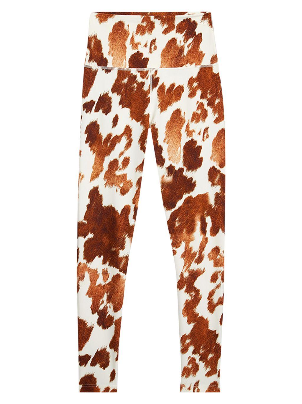 WeWoreWhat High-Waist Cow-Print Leggings