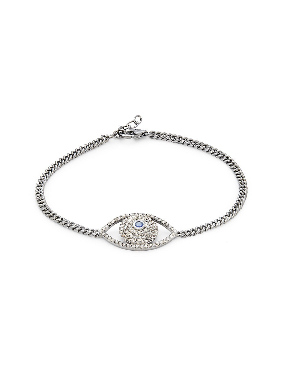 Women's Rhodium-Plated Sterling Silver