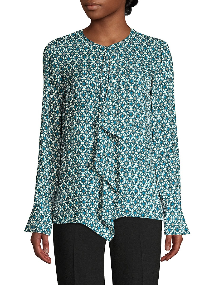 Women's Pernilla Ruffle Printed Shirt