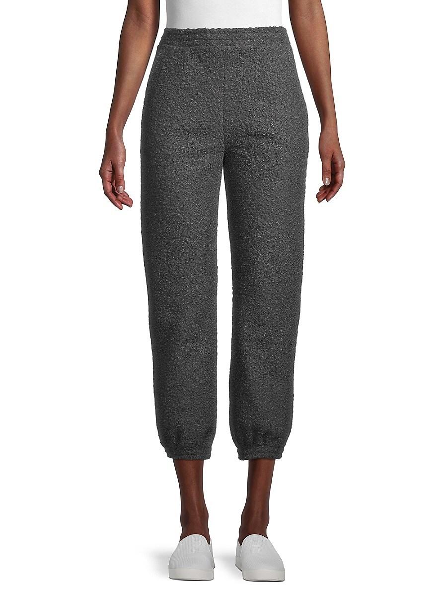 Women's Textured Jogger Pants