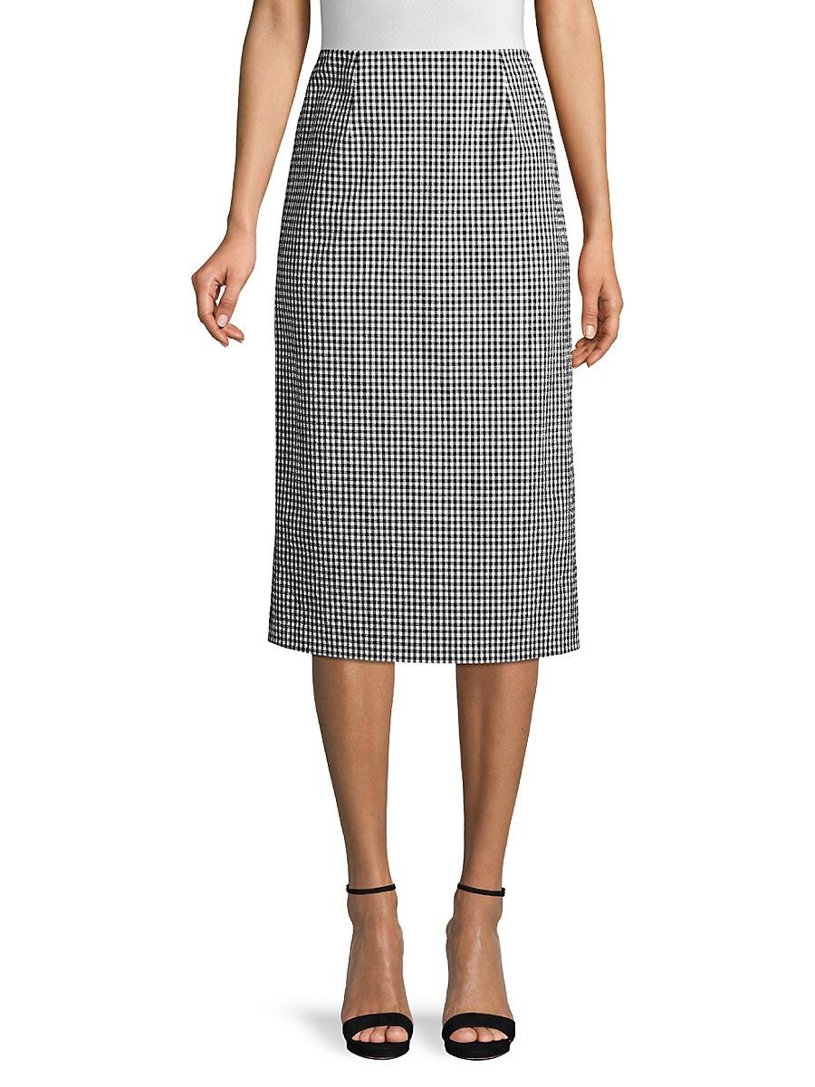 Women's Mila Gingham Seersucker Skirt