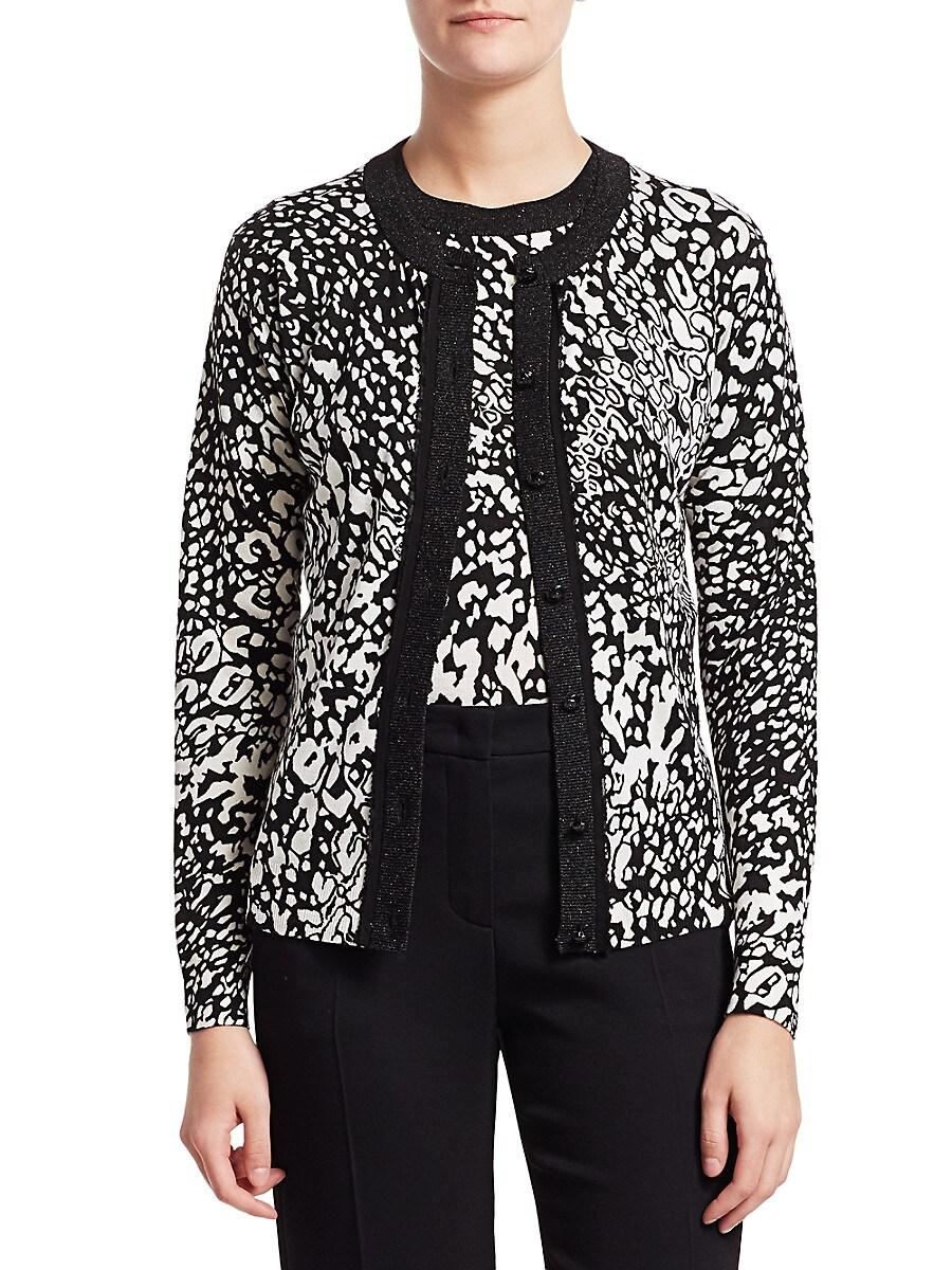 Women's Sivan Abstract Leopard-Print Cardigan