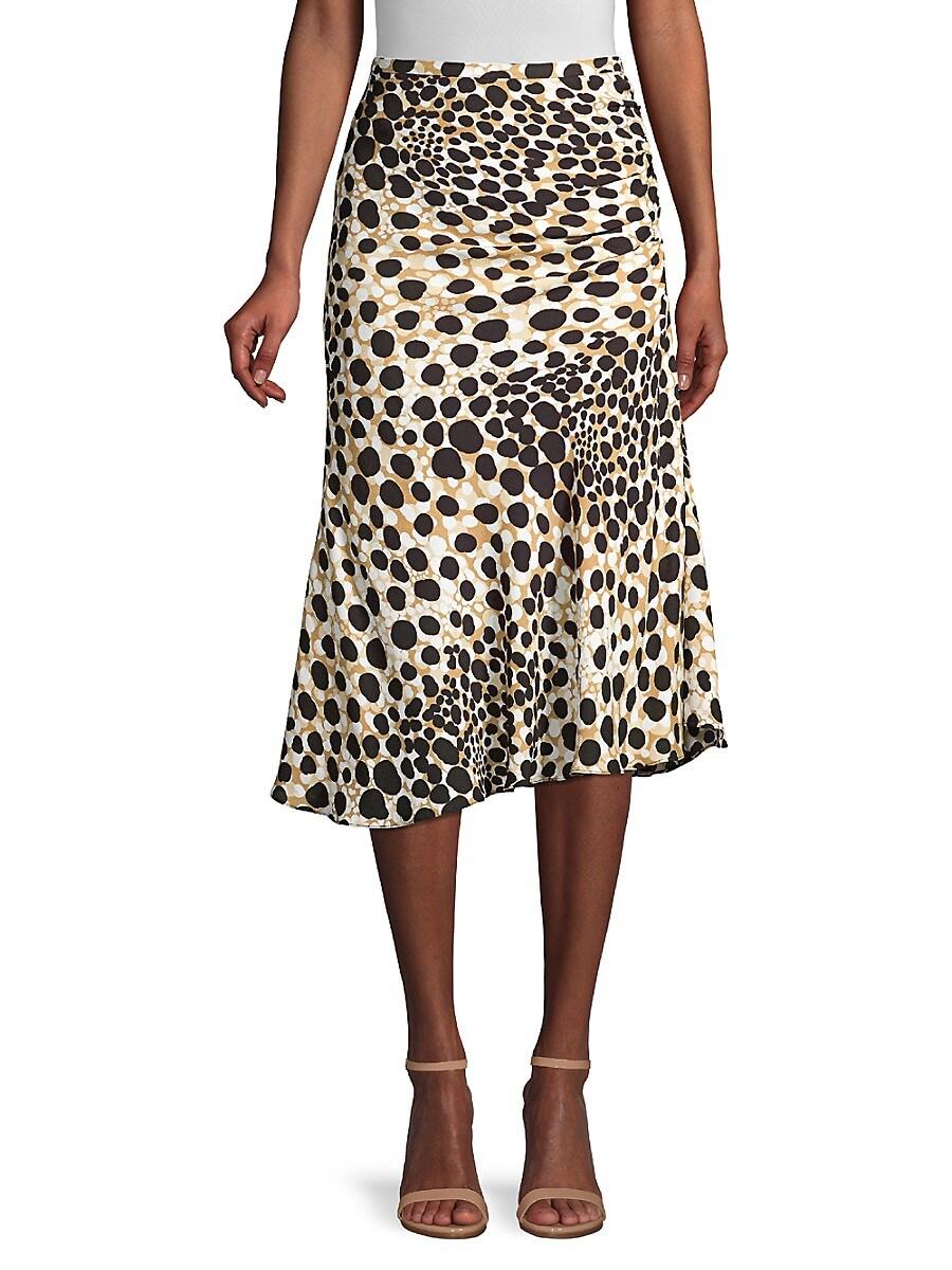 Women's Haidee Spotted Silk Skirt