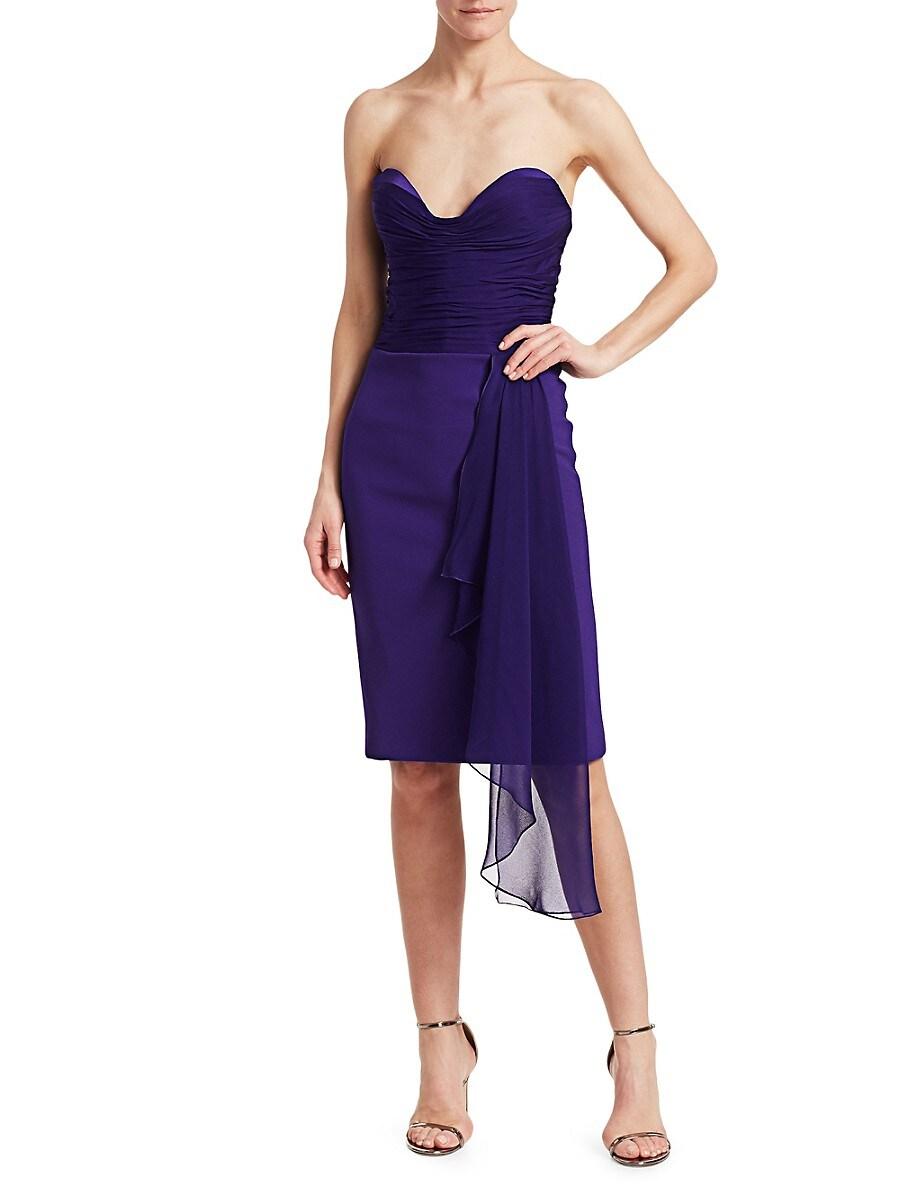 Women's Strapless Ruched Bustier Dress