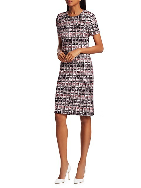 St. John Monarch Textured Tweed Sheath Dress $419.99 (69% OFF)