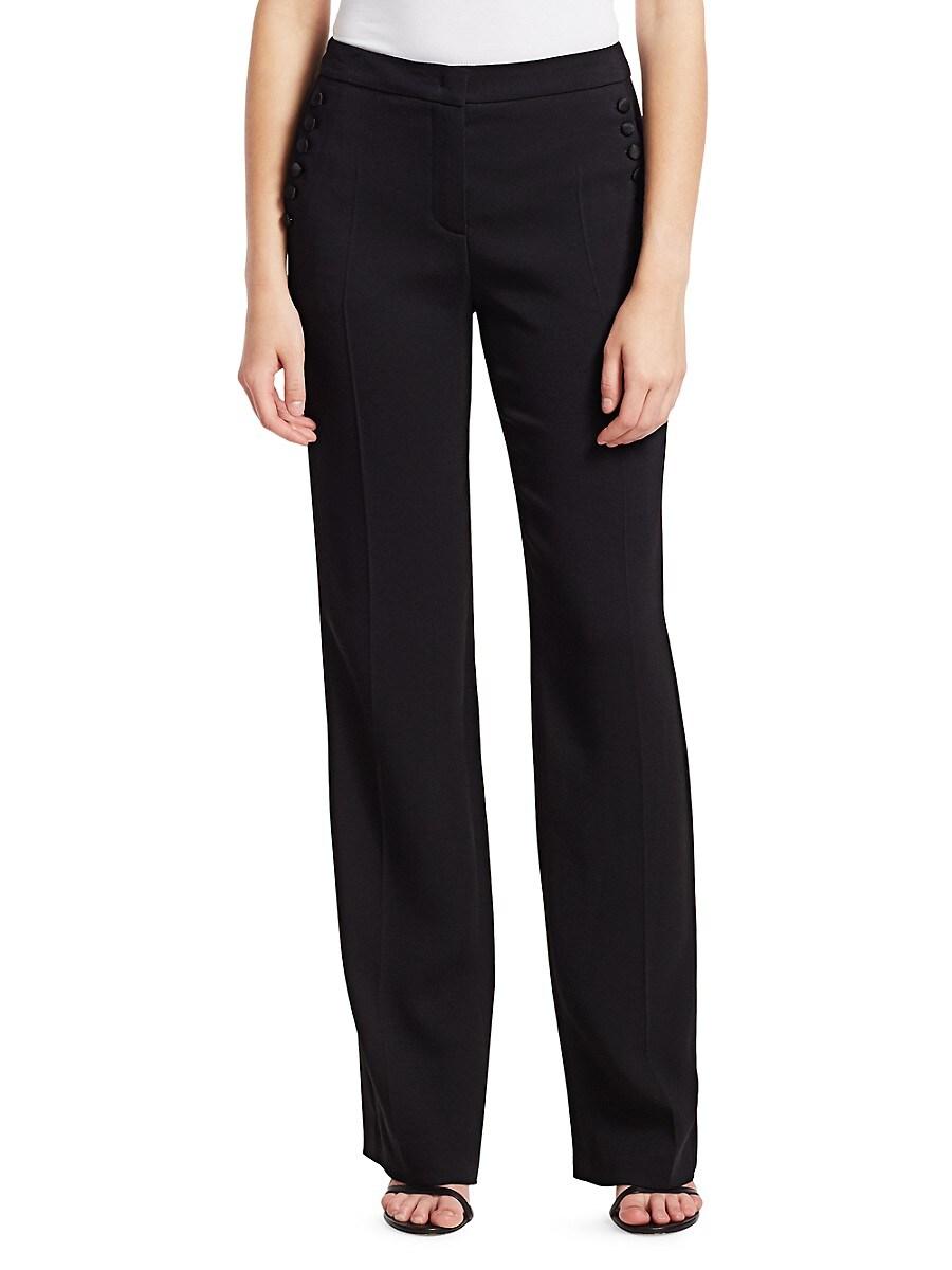 Women's Tassu Button-Trimmed Tuxedo Trousers