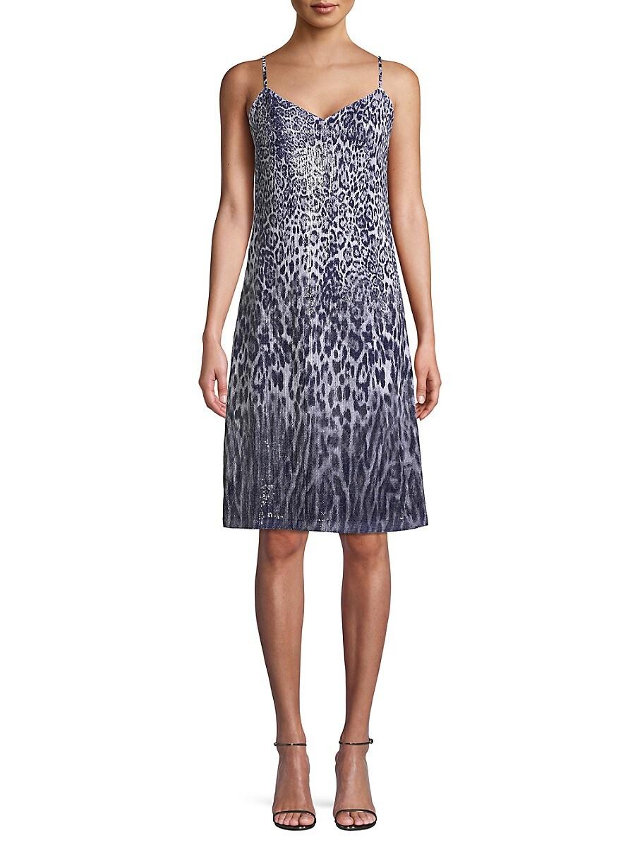 Women's Yesmina Metallic Leopard-Print Shift Dress