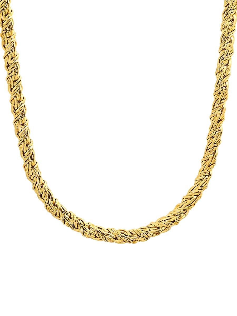 Men's 18K Goldplated Chain Necklace