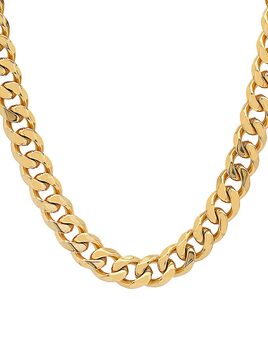 Men's 18K Goldplated Stainless Steel Cuban Chain Necklace