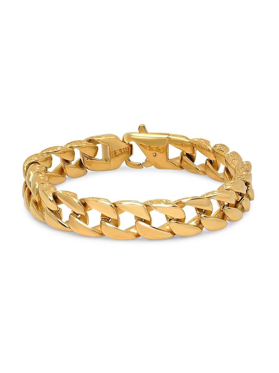 Men's 18K Goldplated Stainless Steel Chain Link Bracelet