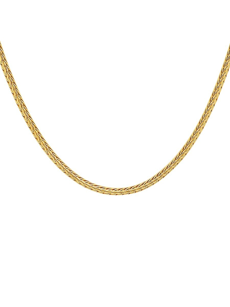 Men's 18K Goldplated Stainless Steel Wheat Chain Necklace