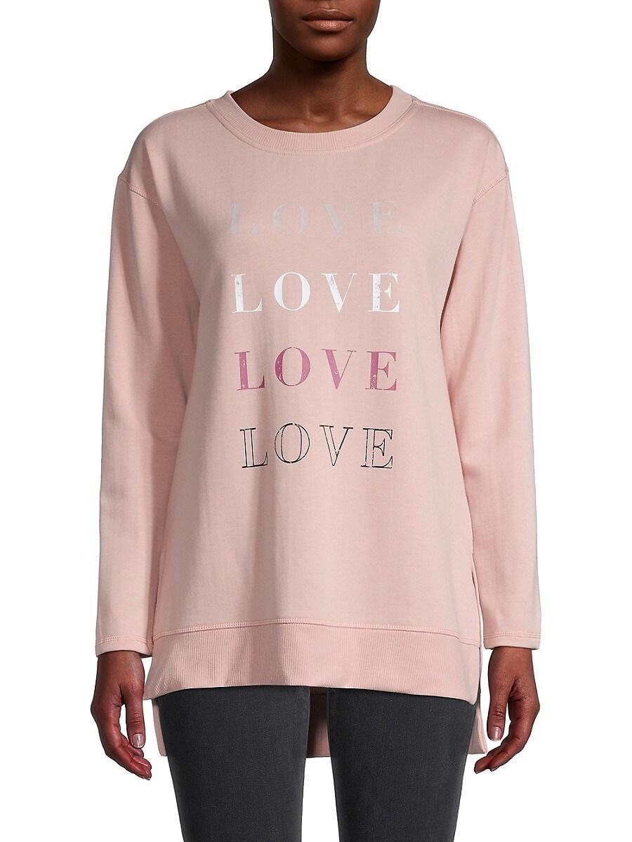 Women's Graphic High-Low Fleece Sweatshirt