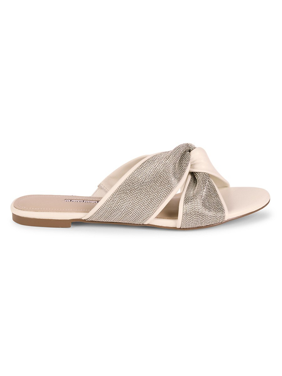 Women's Kendall Beaded Leather Knotted Slides