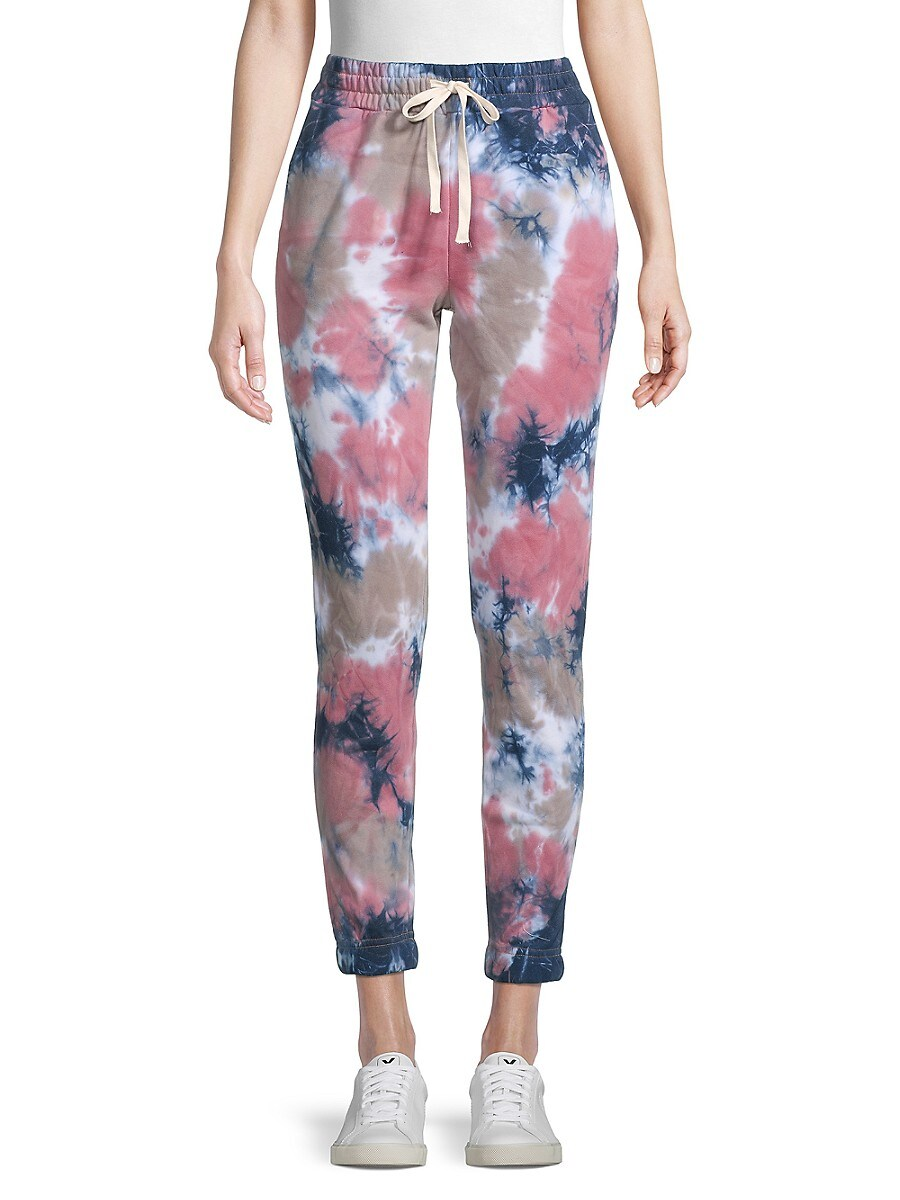 Women's Drawstring Cotton-Blend Jogger Pants