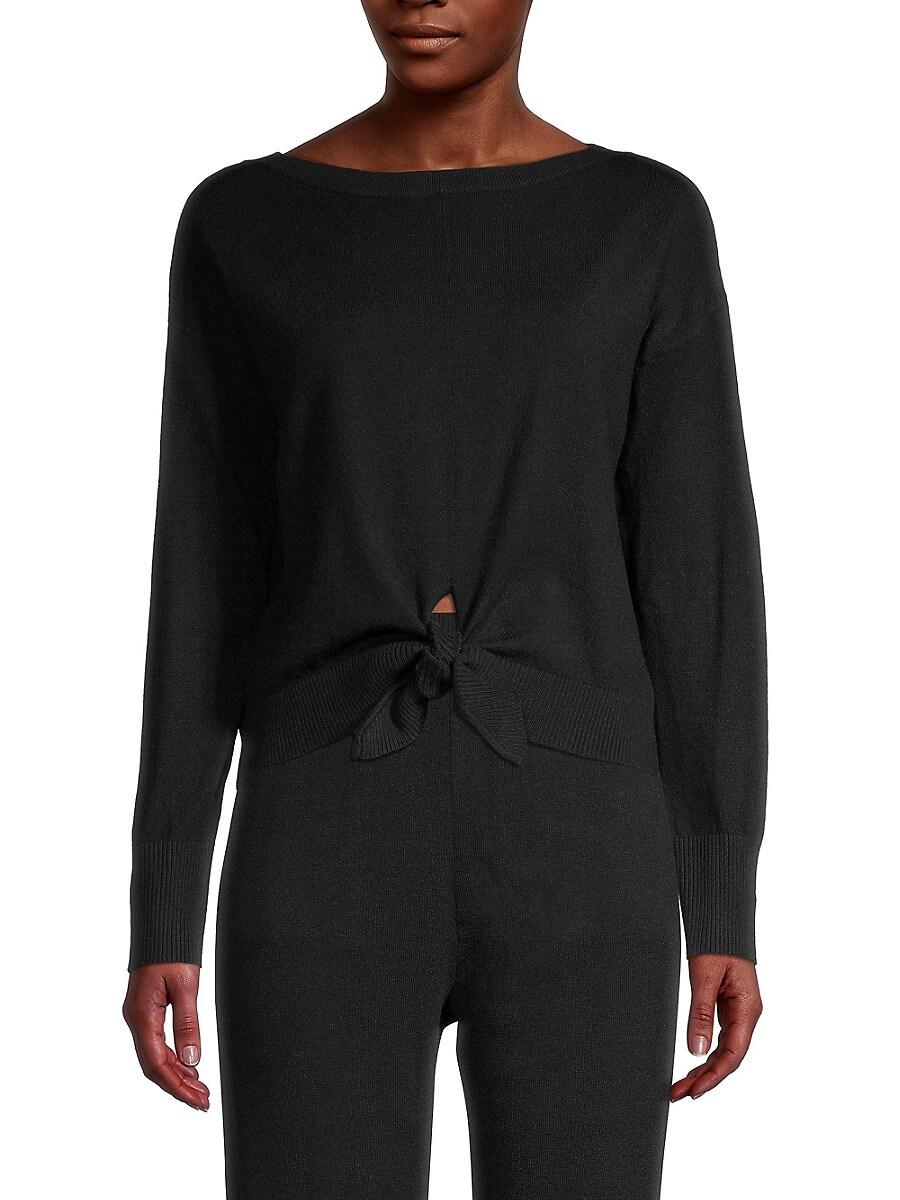 Women's Tie-Front Sweater