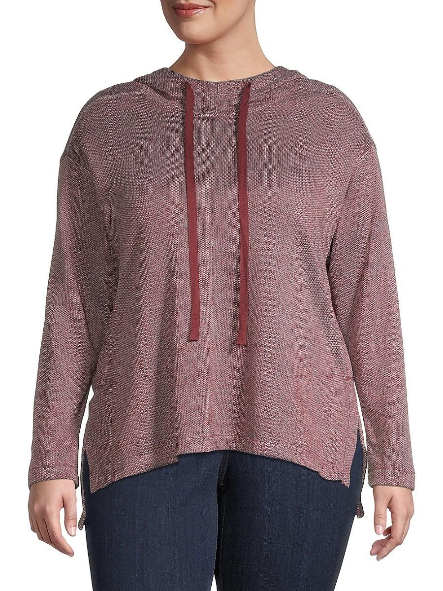 Women's Hooded Cotton-Blend Tunic