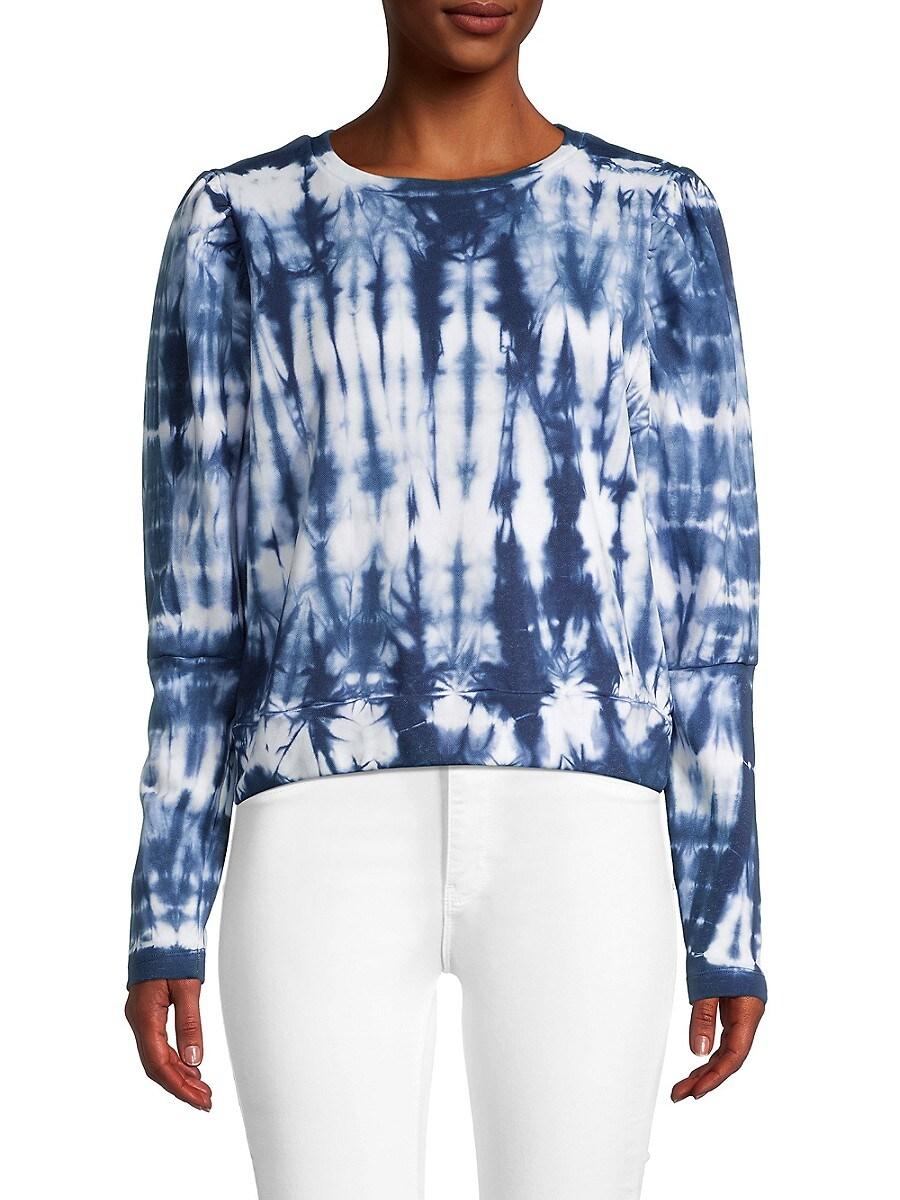 Women's Tie Dyed-Print Cotton Sweatshirt