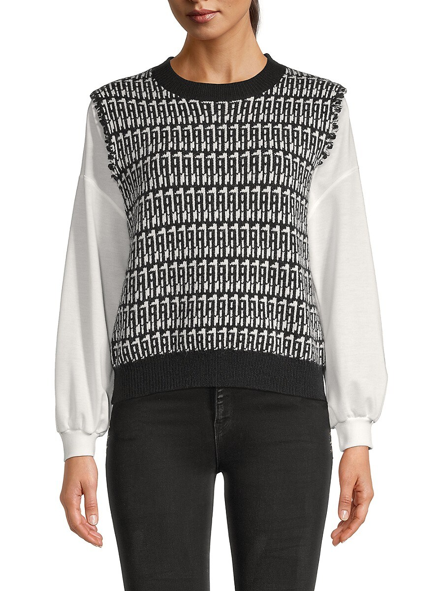 Women's Knit Dropped-Shoulder Pullover