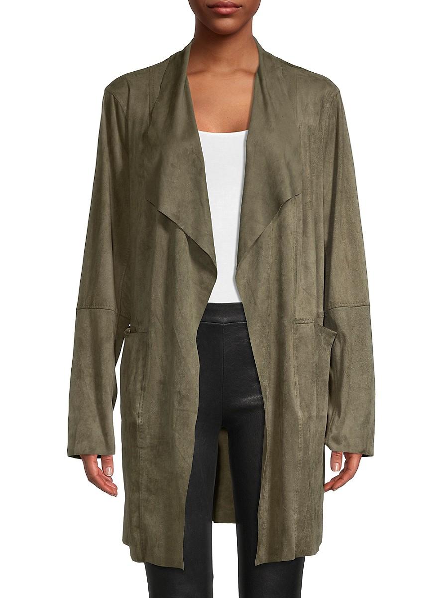 Women's Open-Front Long Jacket