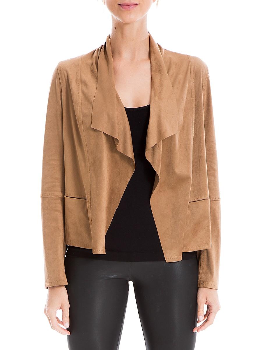 Women's Zip Suede Jacket