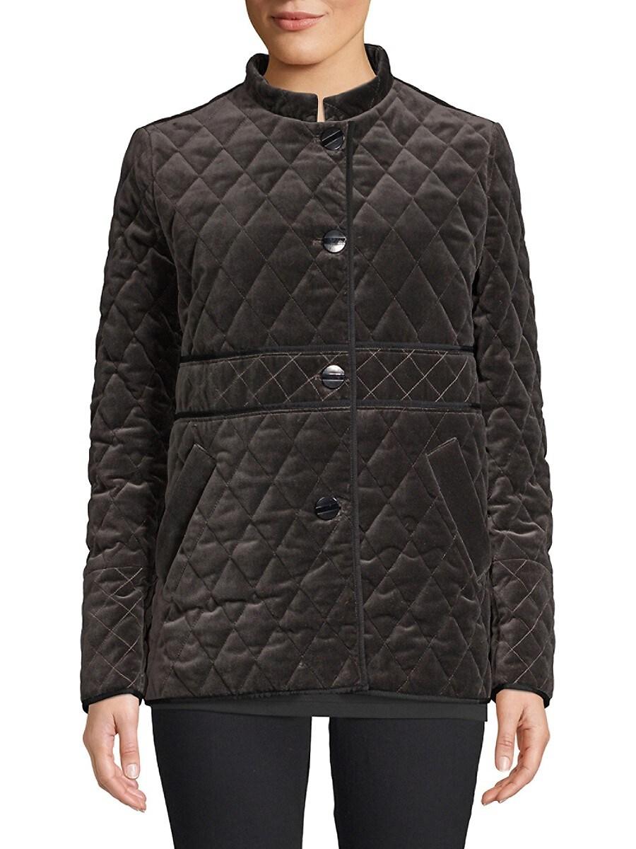Women's Quilted Velvet Jacket