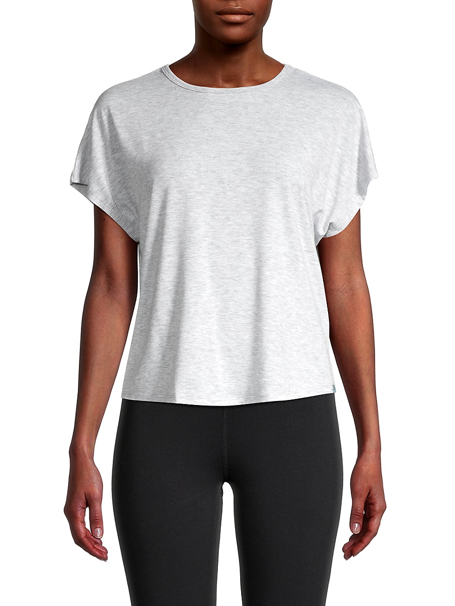 Women's Knotted Cutout Back T-Shirt