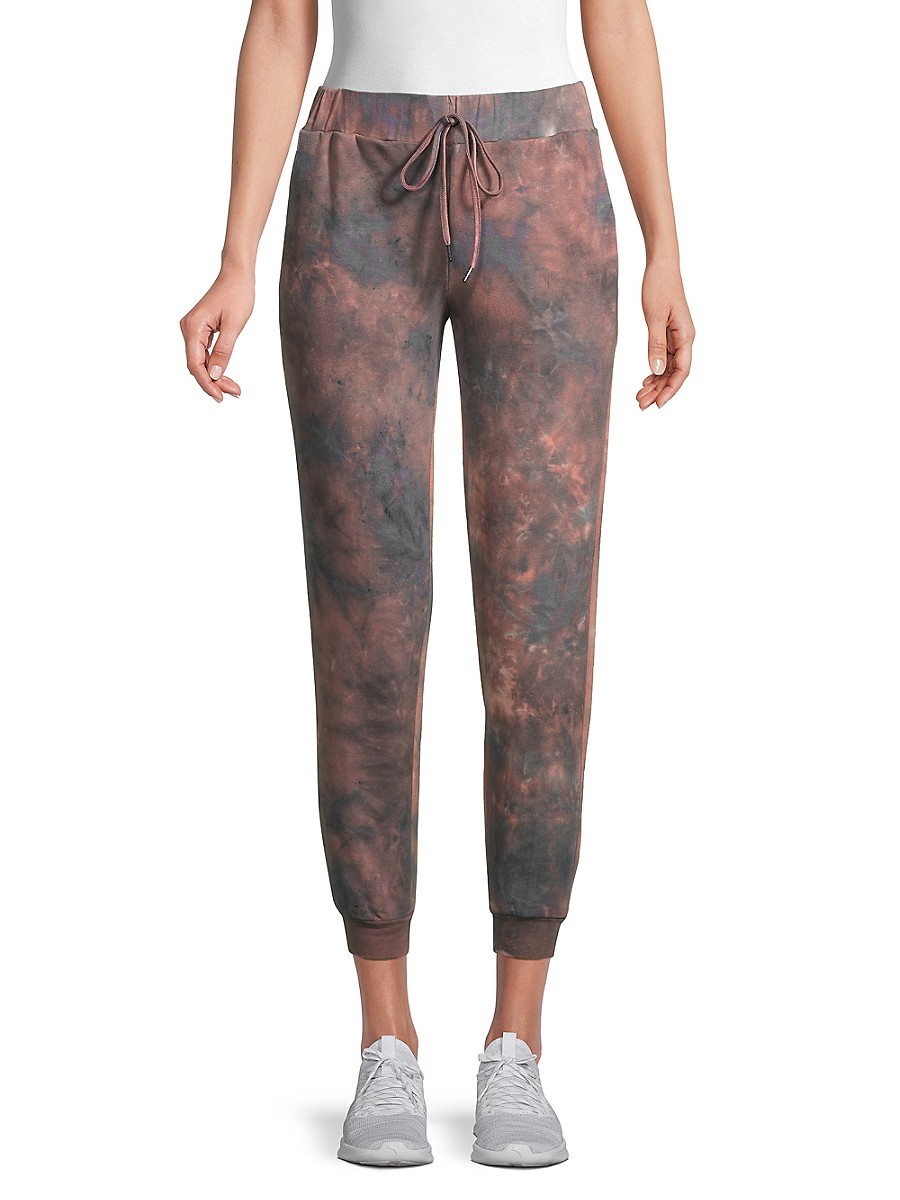 Women's Tie-Dyed Stretch-Cotton Pants