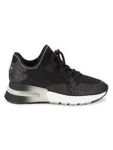 ASH Kodi Krush Glitter Sneakers,BLACK