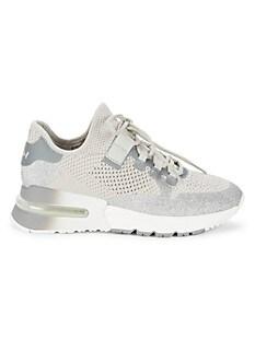 ASH Kodi Krush Glitter Sneakers,LIGHT GREY SILVER