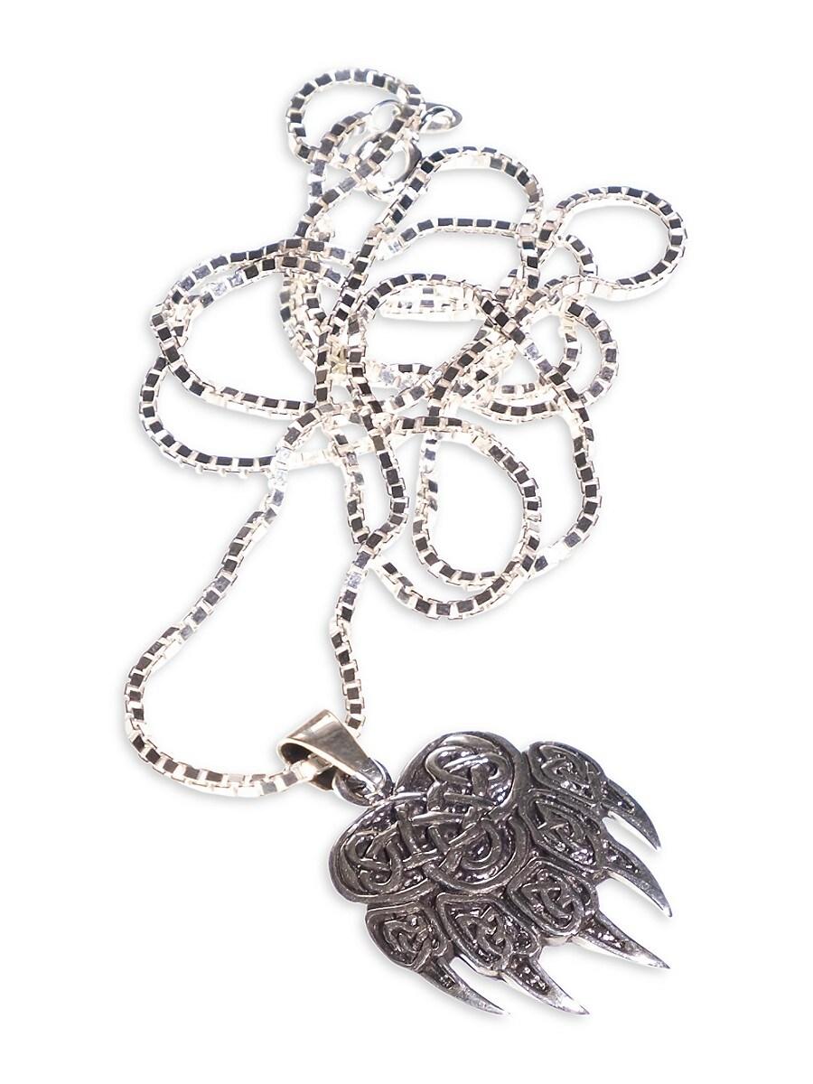 Men's Sterling Silver Pendant Necklace