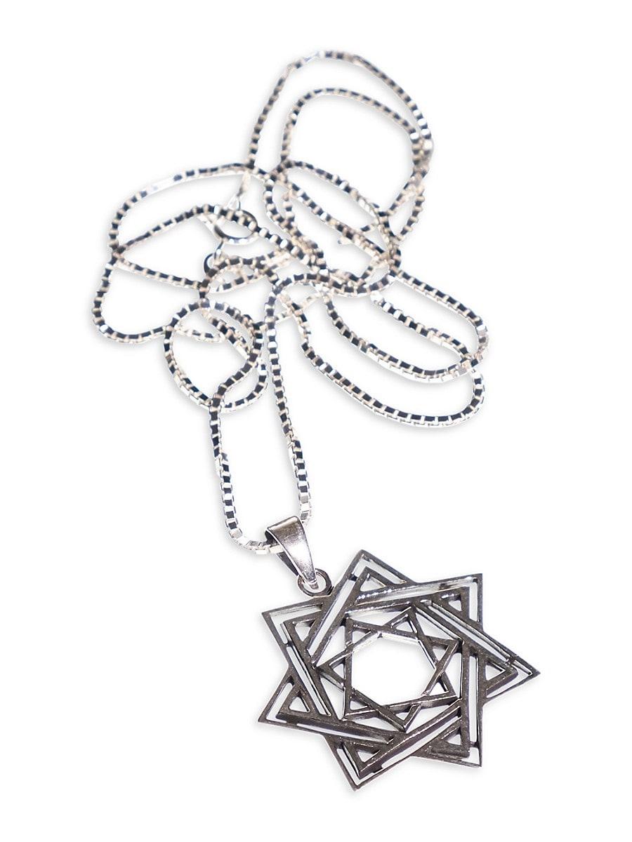 Men's Sterling Silver Star of David Pendant Necklace