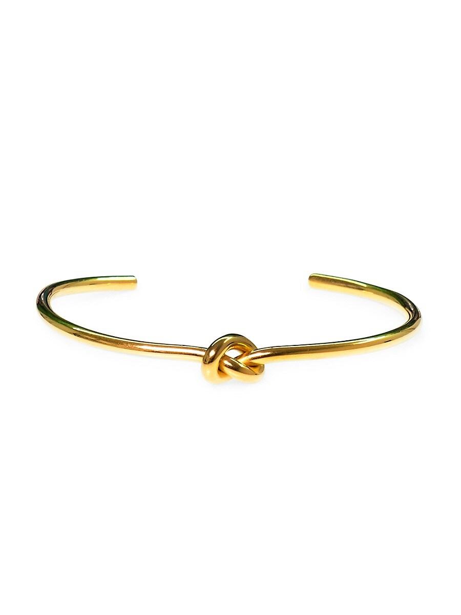 Men's Dell Arte Goldplated Stainless Steel Knot Cuff Bracelet