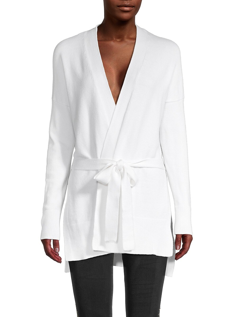 Women's High-Low Belted Cardigan