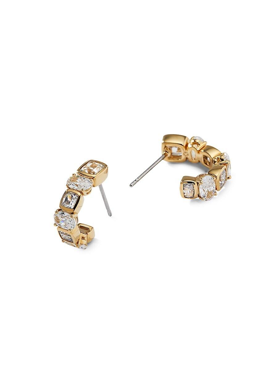 Women's 18K Goldplated & Crystal Earrings
