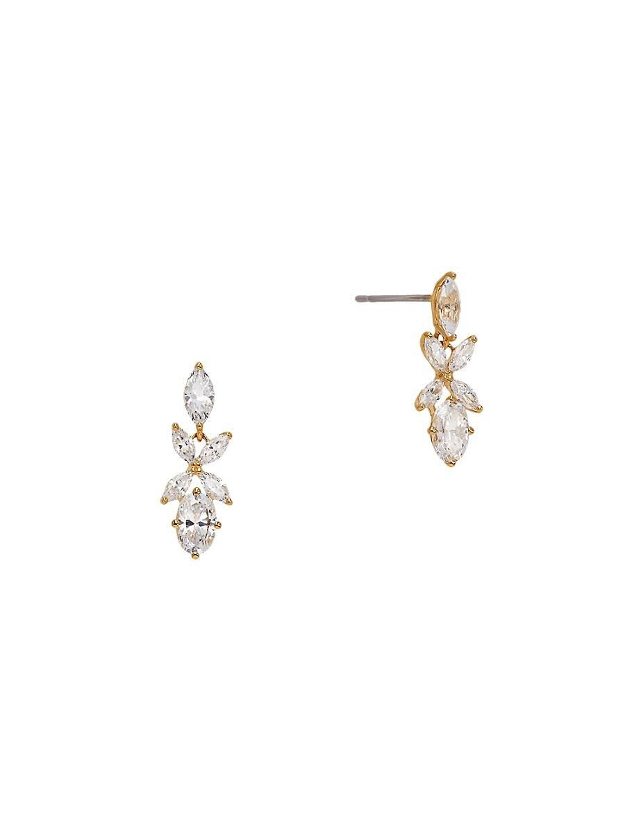 Women's 18K Goldplated & Crystal Drop Earrings