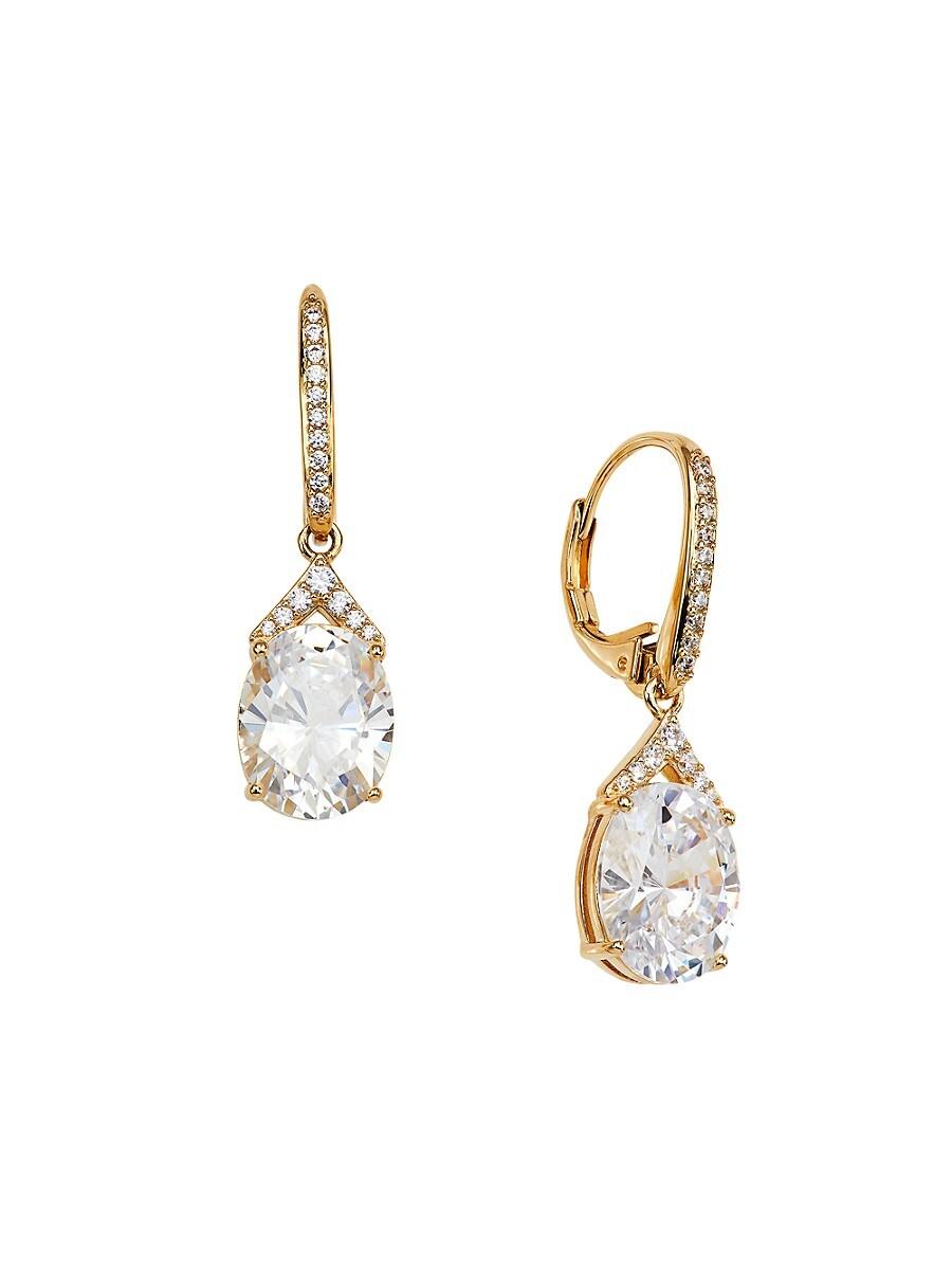 Women's 18K Goldplated & Crystal Dangle Earrings