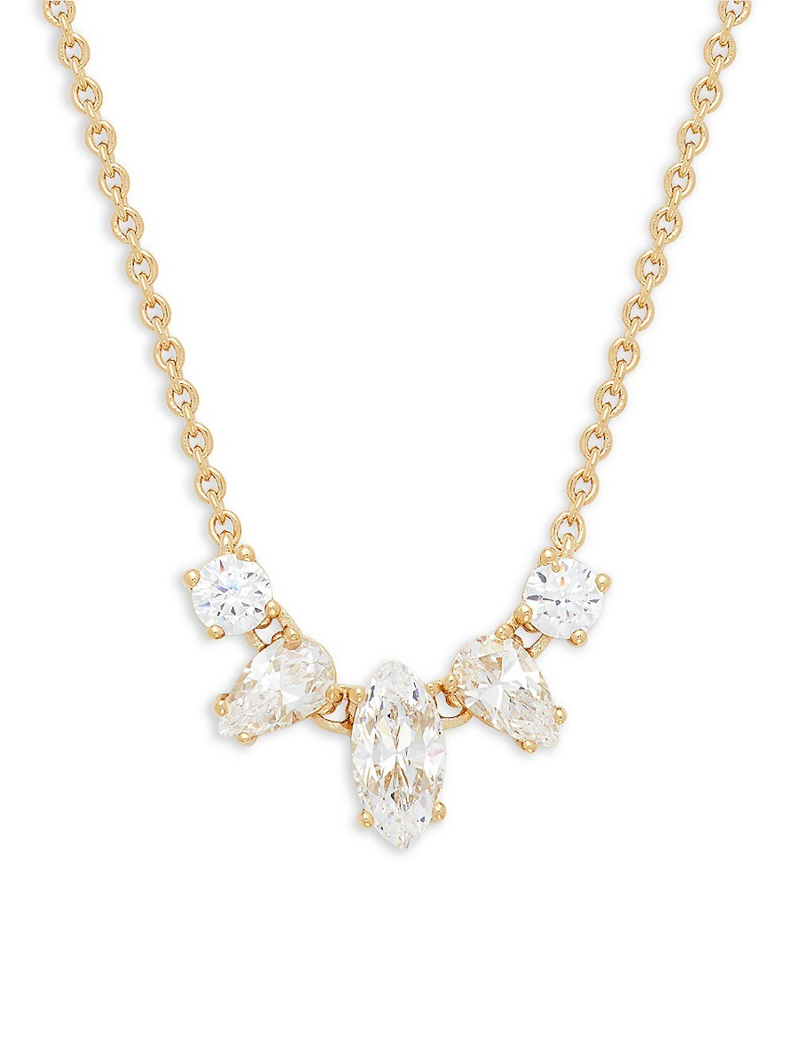 Women's 18K Goldplated & Crystal Necklace