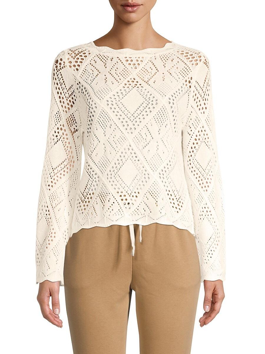 Women's Pointelle-Knit Sweater