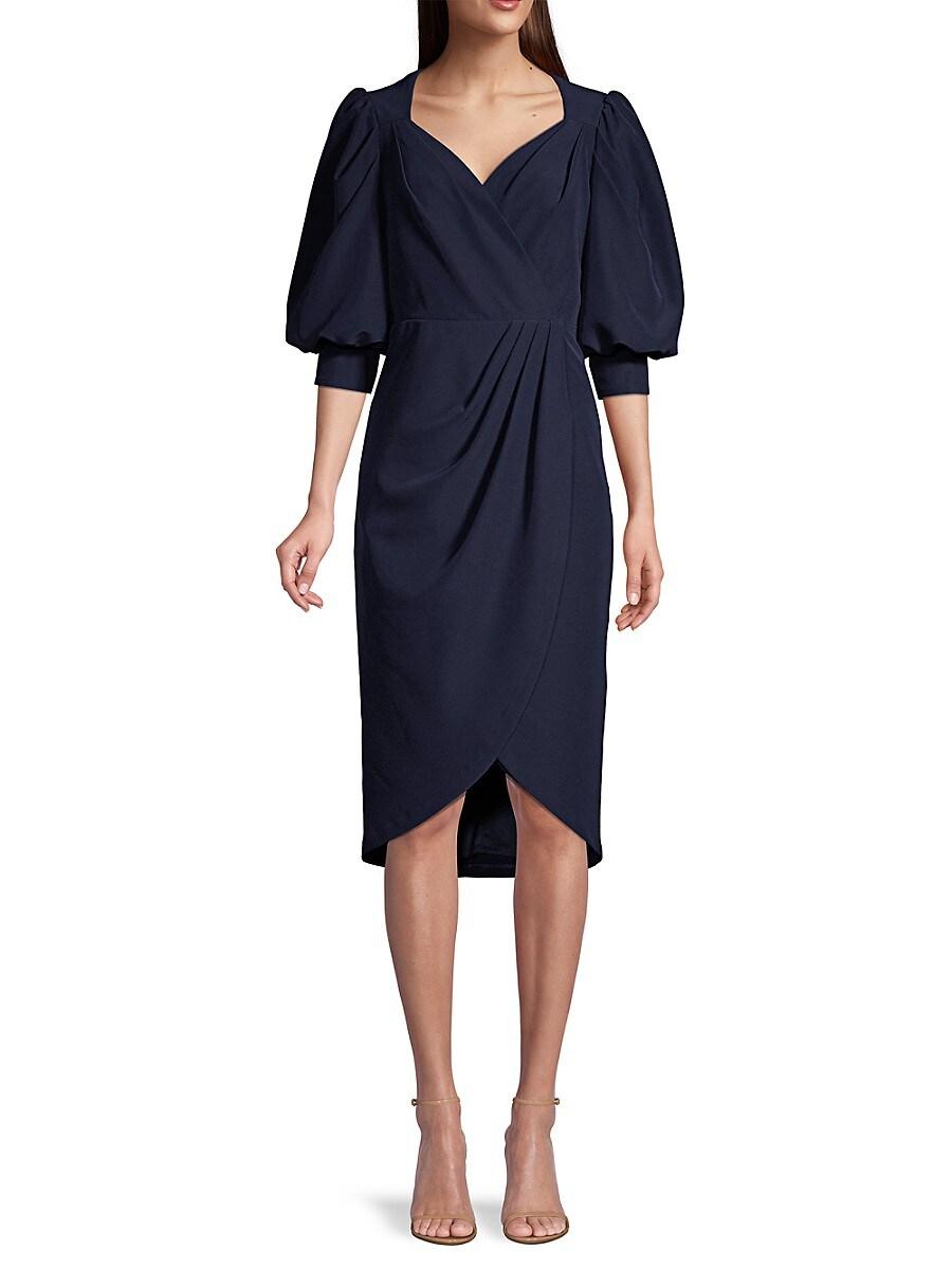 Women's Puff-Sleeve Cocktail Dress